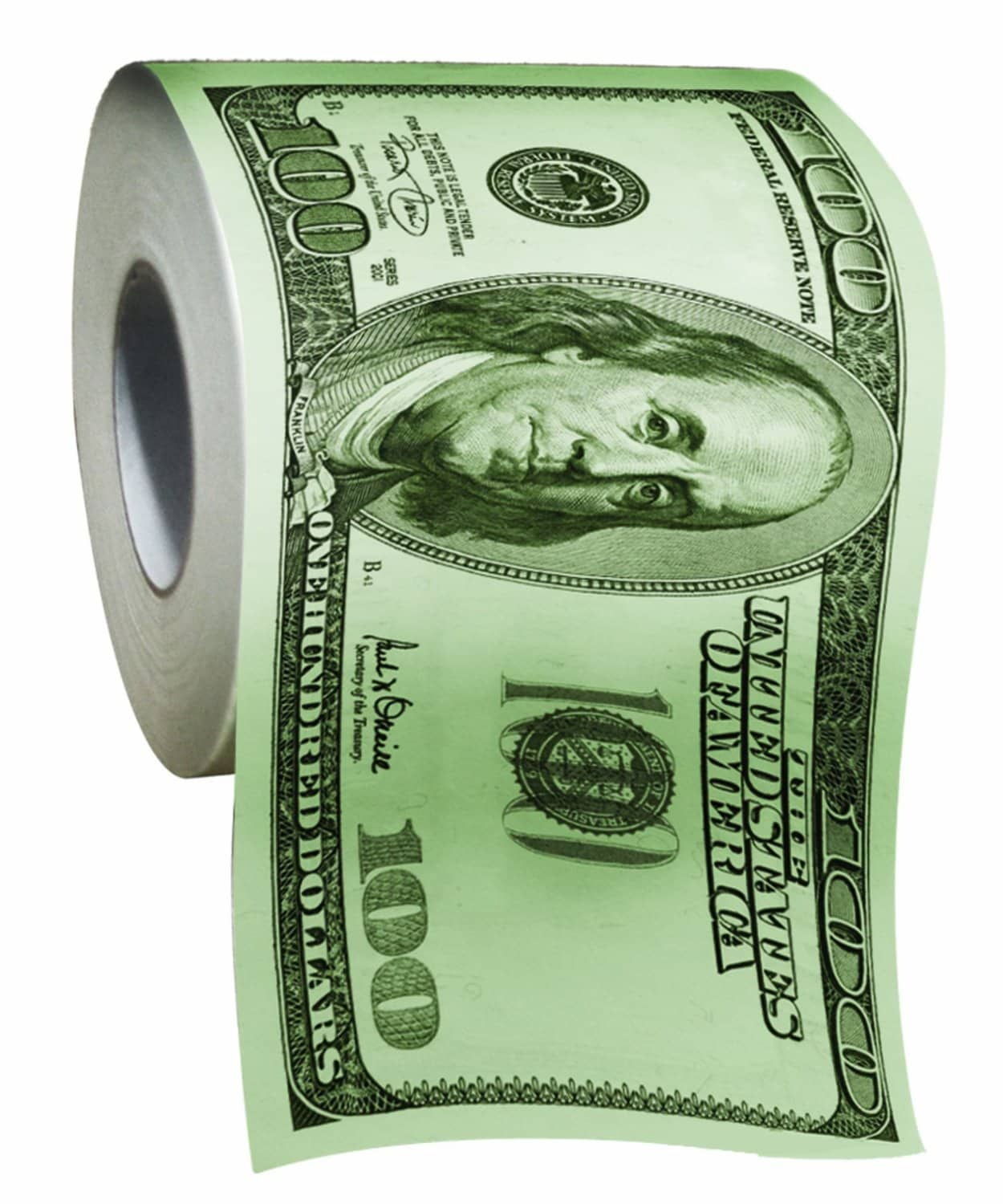 $100 Bill Toilet Paper | Luxury Camping