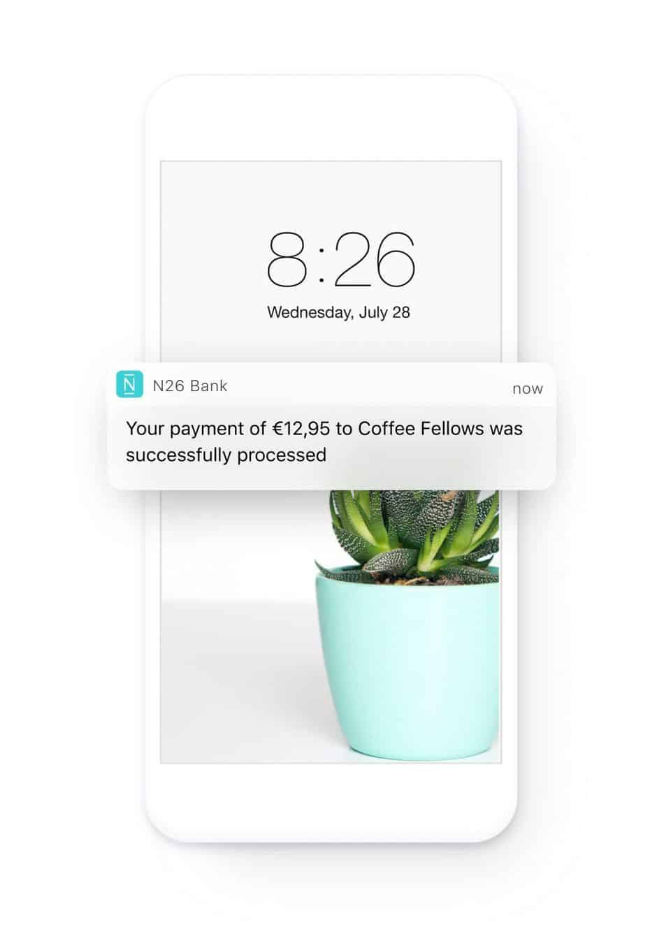 N26 Review - The N26 app gives automatic payment notifications when you use your card