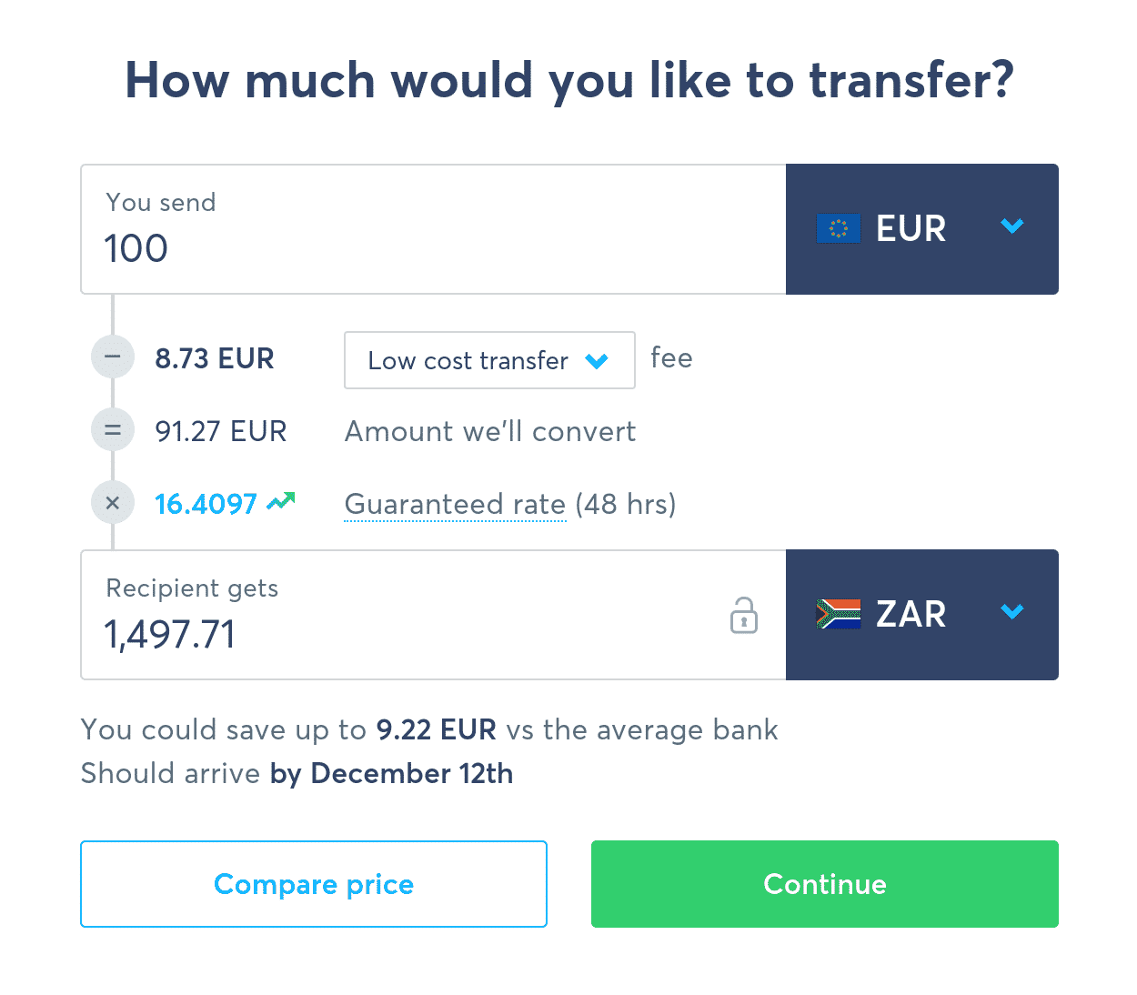 Sending Euros from Germany to South Africa with N26 & TransferWise