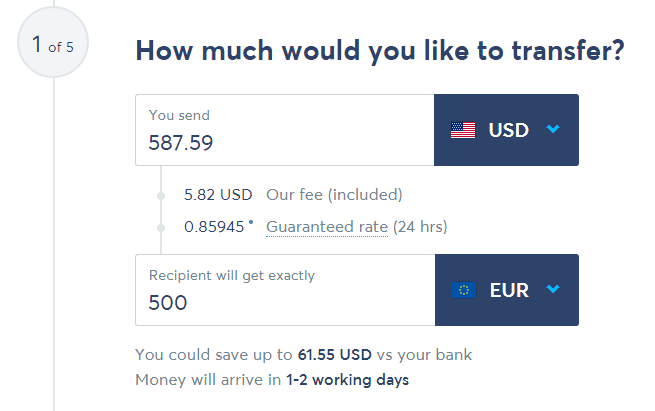 TransferWise Currency Exchange Rate Vs. Banks USD To EUR - TransferWise Review